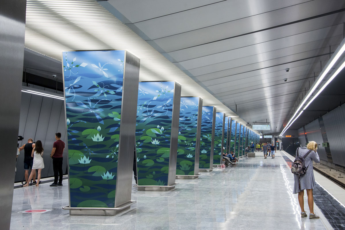 Станция метро «Озерная»